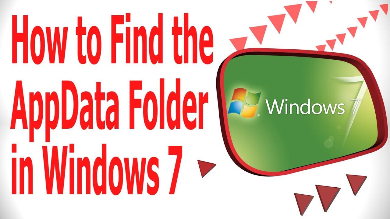 how to delete appdata folder in windows 7