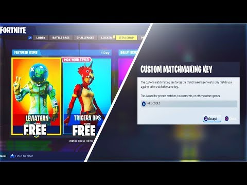 Fortnite Custom Matchmaking Keys! // Join For Codes From ...