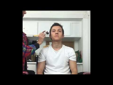 Tom Holland's Naughty Behaviour with the Makeup Artist