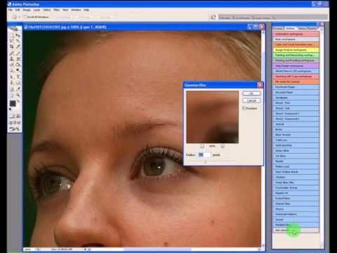 Using the free Soften Skin Adobe Photoshop Action