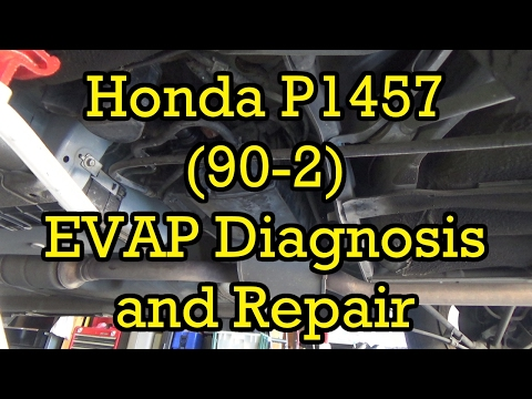 Honda Accord P1457 (90-2) EVAP Canister Vent Solenoid Diagnosis and Replacement 1998-2002
