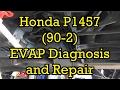 Honda Accord P1457 (90-2) EVAP Canister Vent Solenoid Diagnosis/Repair 1999 V6 (1998-2002 Similar)