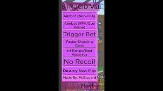 Roblox Strucid [BETA] Aimbot , INF ammo , fast shoot !!! (WORKING)