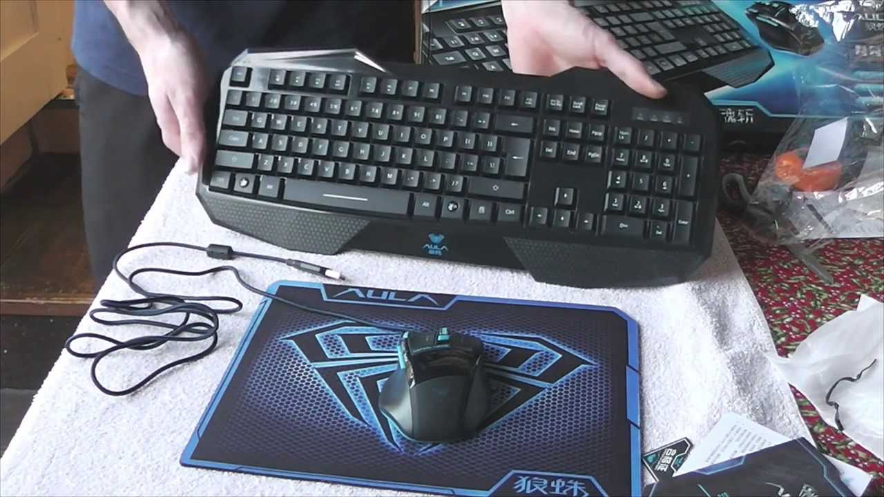 AULA Gaming Keyboard and Mouse Combo - Unboxing & Review [HD]