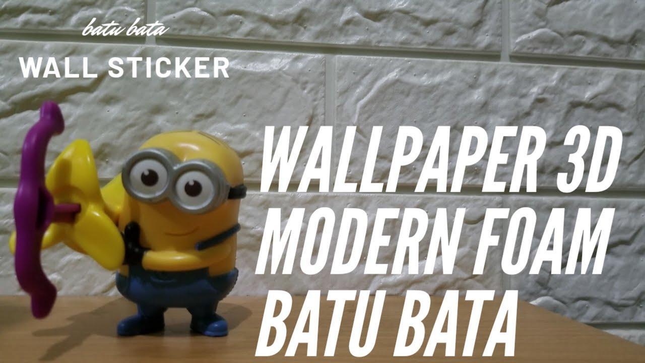 Wallpaper 3D Batu Bata WALL STICKER Unboxing
