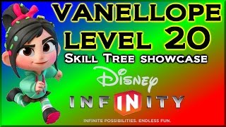 Disney Infinity Vanelope Level 20 Skill Tree Showcase - PS4 Gameplay By DisneyToyCollector