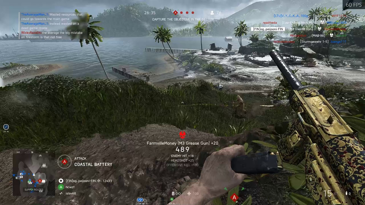 Battlefield V (PC) - Playing Breakthrough on Solomon Islands using the Grease Gun