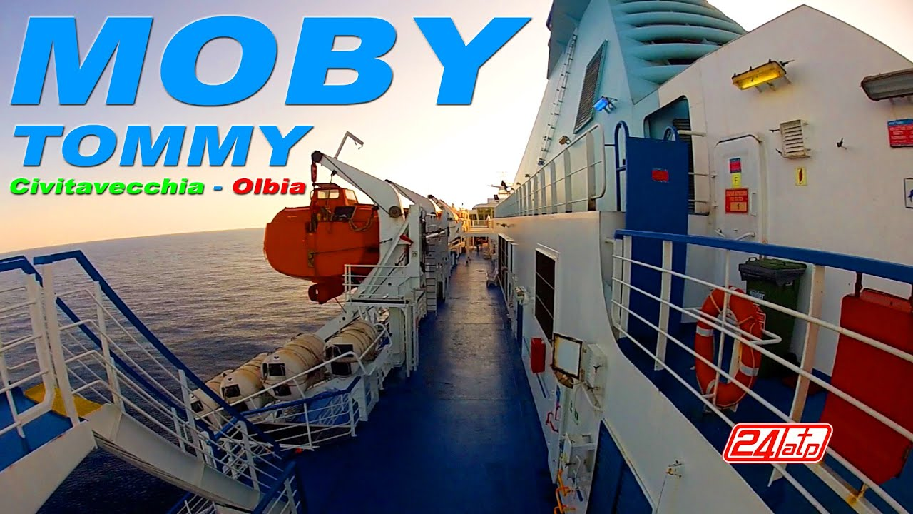 Moby tommy civitavecchia to olbia port onboard ferry moby lines