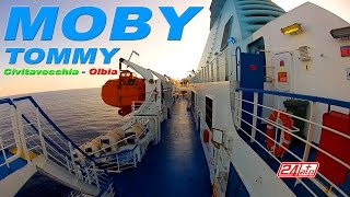 Moby Tommy Civitavecchia To Olbia Port - Onboard Ferry Moby Lines Traghetto Italy Sardinia Sardegna