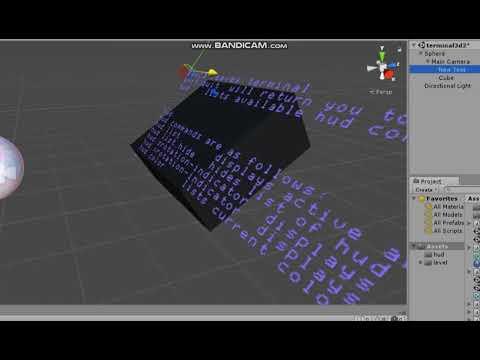 unity 3d text -  terminal /  console / command line.