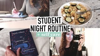STUDENT NIGHT ROUTINE | making time for self care + productivity