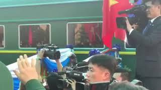 Khoảnh khắc đoàn tàu bọc thép lăn bánh rời ga Đồng Đăng