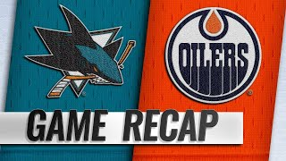 Labanc nets hat trick as Sharks down Oilers, 5-2