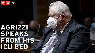 Corruption accused and former Bosasa COO Angelo Agrizzi gets emotional in his first address since he was admitted to hospital after falling ill in jail.