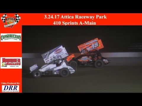 3.24.17 Attica Raceway Park 410 Sprints A Main