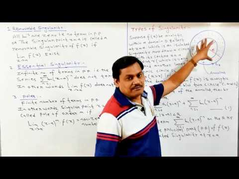 Lecture-10 Complex Analysis-Singular point, isolated and Non isolated Singularity in Hindi