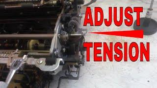 IBM Selectric Typewriter Adjust Tab Return Cord Cable Tension