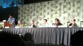 "Regular Show panel Sing a long live ""Party Tonight"" and ""Aw Snap/Summertime Lovin"" Comic Con 2012"