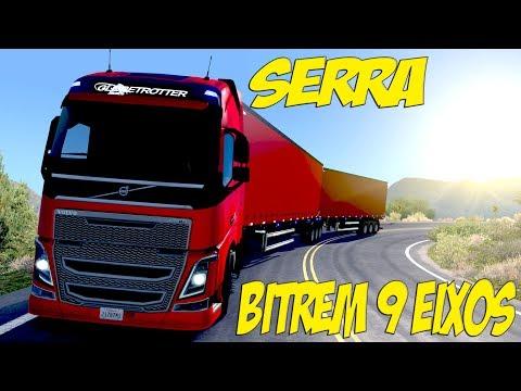 PASSANDO POR SERRA COM O BITREM 9 EIXOS 30 METROS - AMERICAN TRUCK!!!