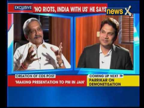Defence Minister Manohar Parrikar speaks exclusively to NewsX