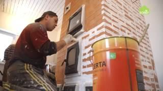 видео Термостойкая краска для печи из кирпича