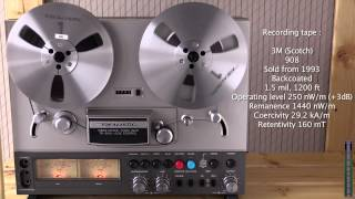 Realistic TR-3000 tape deck Demo with 3M 908 tape