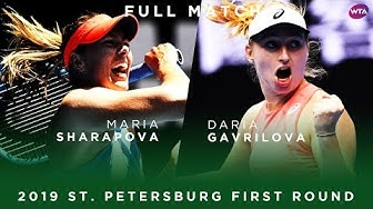 Maria Sharapova vs. Daria Gavrilova | Full Match | 2019 St. Petersburg First Round