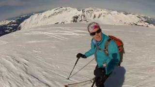 Another ordinary day in the French Alps: ski touring in Haute Savoie