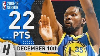 Kevin Durant Full Highlights Warriors vs Timberwolves 2018.12.10 - 22 Pts, 3 Ast, 5 Rebounds!