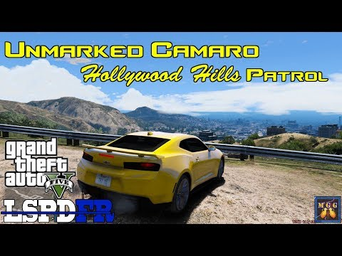 Yellow Camaro ZL1 Undercover Hollywood Hills Patrol GTA 5 LSPDFR Episode 188