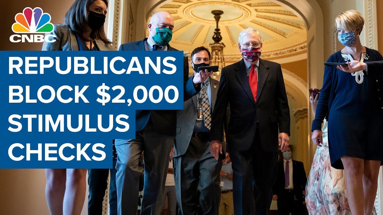 Republicans block Democrats' attempt to pass $2,000 stimulus checks