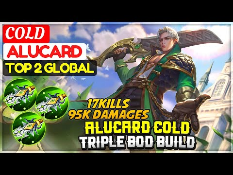 COLD ALUCARD TRIPLE BOD BUILD [ Top 2 Global Alucard ] COLD - Mobile Legends