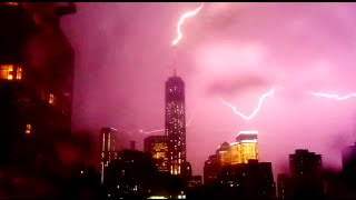 Lightning Strikes 1 World Trade Center Twice | 05/23/14