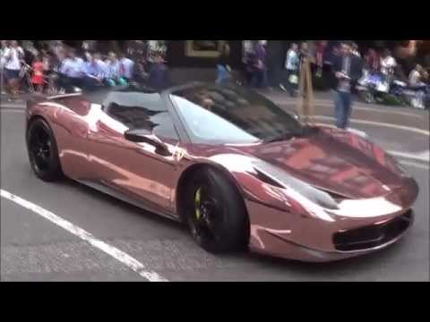 Rose Gold Ferrari 458 Spyder With Armytrix Cat Back Titanium Exhaust Spotted In London Youtube