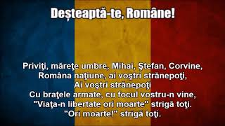 National Anthems of Romania and Moldova (Nightcore Style With Lyrics)
