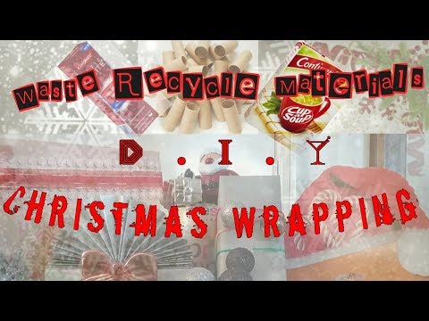 DIY CHRISTMAS GIFT WRAPPING IDEAS| Using Wastes RECYCLED Materials