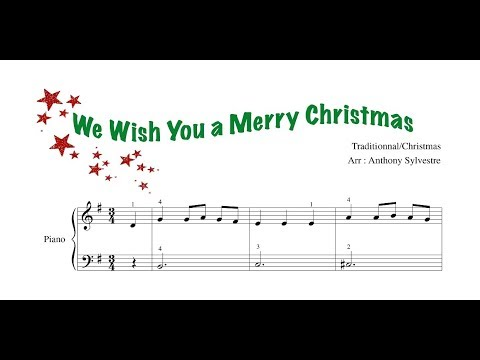 We Wish You A Merry Christmas Easy Piano Free Sheet Music With Fingerings