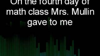 Repeat youtube video The 12 days of math class by Casey Guo