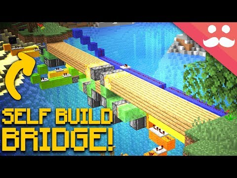 Self Building BRIDGES in Minecraft! thumbnail