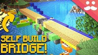 Self Building BRIDGES in Minecraft!