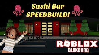 Sushi Bar Speedbuild! - Bloxburg - Roblox