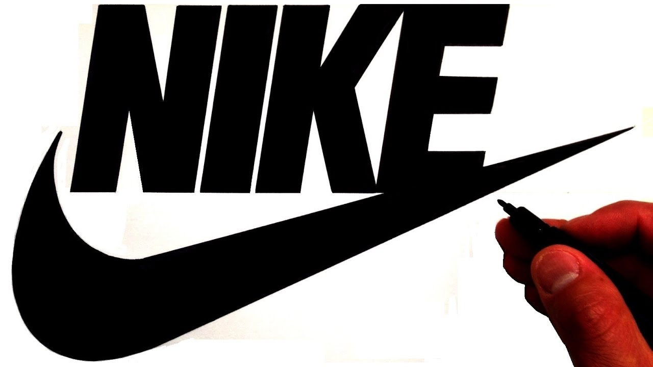 reputable site 56055 790f8 How to Draw the Nike Logo