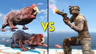 Fallout 4 - 250 Mole Rats VS 30 Raiders - Battles #12