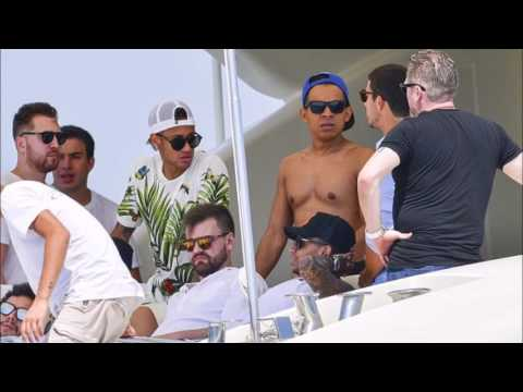 Neymar soaks up the St Tropez sun on yacht as £198m new boy