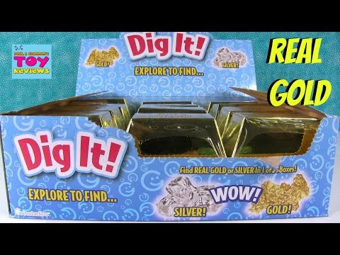 Digging For Gold Dig it Surprises Inside Treasure Gold Bar | PSToyReviews