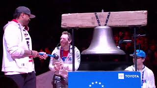 Allen Iverson Rings The Bell Before 76ers Game and the Tobias Harris Trade (2019)