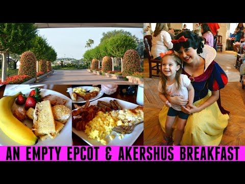 AN EMPTY EPCOT & AKERSHUS BREAKFAST | Walt Disney World Vaca