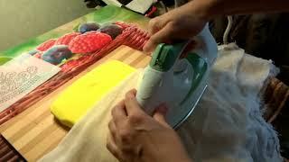 видео Как приклеить стразы на ткань утюгом
