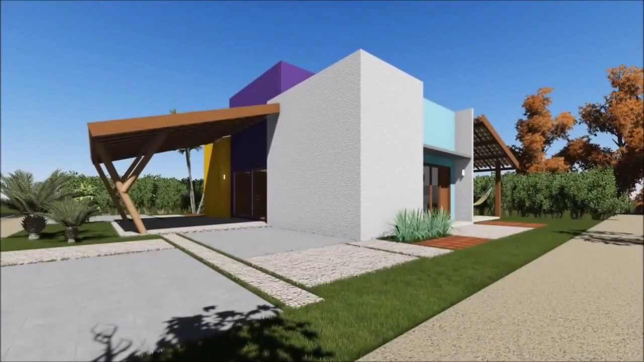 projeto casa moderno minimalista pr casas de campo terra