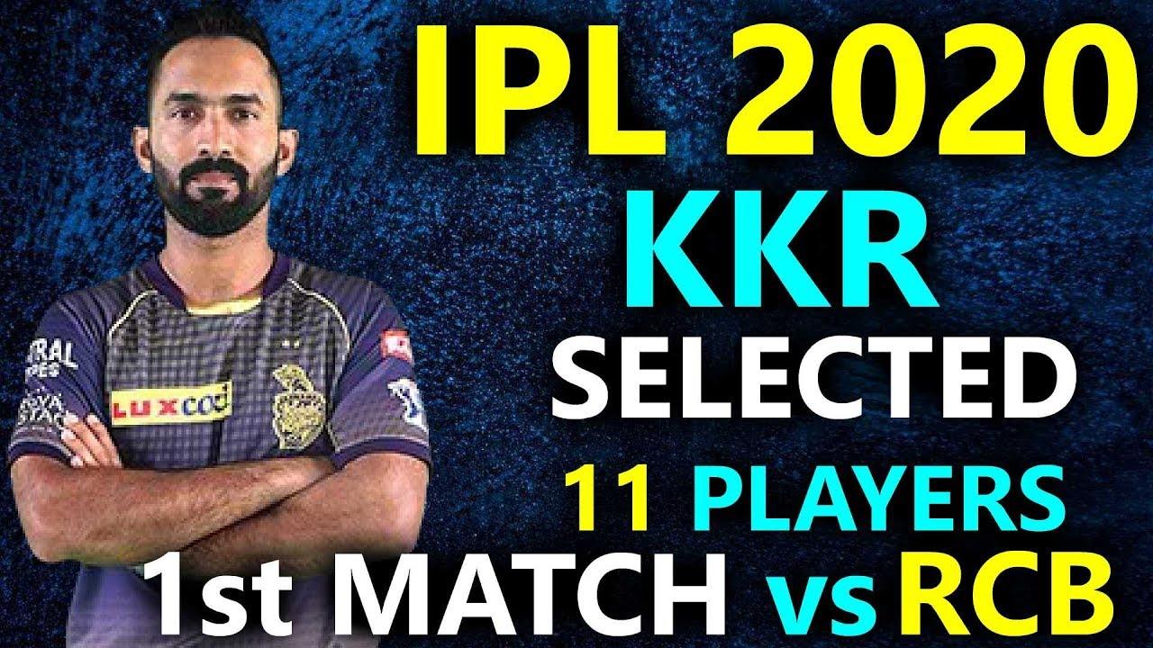 IPL 2020 Match No 3 RCB VS KKR || KKR Playing 11 1st match ...